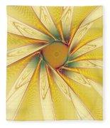 Sunshine Flower Fleece Blanket
