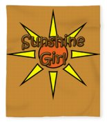 Sunshine Girl Fleece Blanket