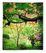 Sunshine In The Garden Fleece Blanket