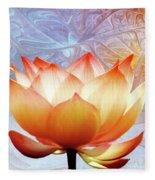 Sunshine Lotus Fleece Blanket