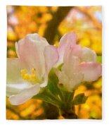 Sunshine On Apple Blossoms Fleece Blanket