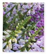Sunshine On Foxgloves Fleece Blanket