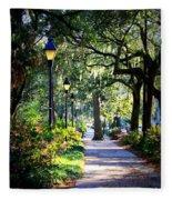 Sunshine On Savannah Sidewalk Fleece Blanket