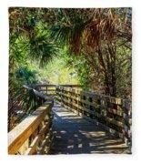 Sunshine On The Boardwalks Fleece Blanket