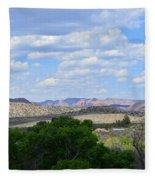 Sunshine On The Mountains - Verde Canyon Fleece Blanket