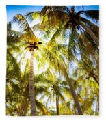 Sunshine Palms Fleece Blanket