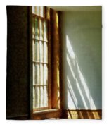 Sunshine Streaming Through Window Fleece Blanket