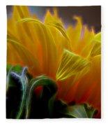 Sunshine Sunflower Petals Two Fleece Blanket