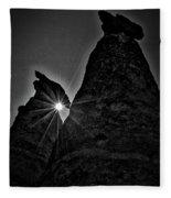 Sunstar At Tent Rocks Fleece Blanket