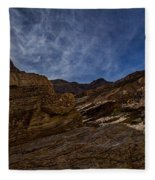 Sunstar Over Mosaic Canyon - Death Valley Fleece Blanket