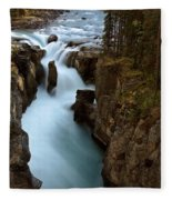Sunwapta Falls In Jasper National Park Fleece Blanket