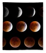 Super Blood Moon Eclipse Fleece Blanket