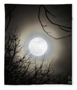 Super Moon  Fleece Blanket