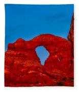 Super Moon Over Arches National Park Fleece Blanket