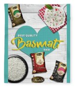 Superior Quality Basmati Rice Importers In New Zealand - Kashish Food Fleece Blanket