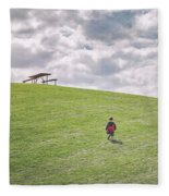 Superman And The Big Hill Fleece Blanket