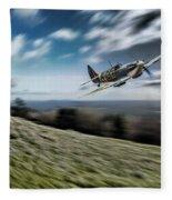 Supermarine Spitfire Fly Past Fleece Blanket