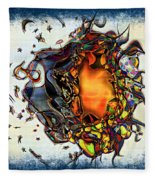 Supernova In Harlequin Fleece Blanket