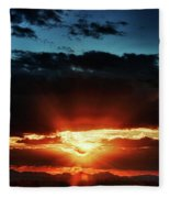 Superstition Sunrise Fleece Blanket