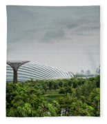 Supertrees At Gardens By The Bay Fleece Blanket