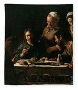 Supper At Emmaus Fleece Blanket