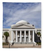 Supreme Courthouse In Tallahassee Florida Fleece Blanket