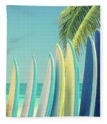 Surfboards Fleece Blanket