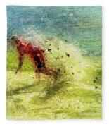 Surf Art Fleece Blanket