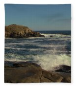 Surf At Nubble Light Fleece Blanket