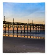 Surf City Fishing Pier Fleece Blanket