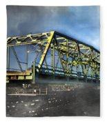 Surf City Nc Swing Bridge Fleece Blanket