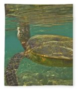 Surfacing Seaturtle Fleece Blanket