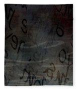 Surfacing Words Fleece Blanket