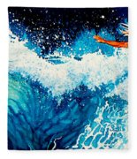 Surfer Girl Fleece Blanket