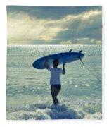 Surfer Girl Fleece Blanket