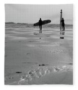 Surfer Silhouettes Fleece Blanket