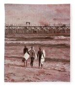 Surfers Three Fleece Blanket