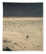 Surfing At Leo Carrillo Beach Fleece Blanket