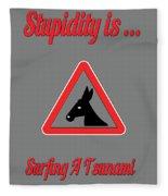 Surfing Bigstock  Donkey 171252860 Fleece Blanket