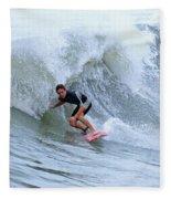 Surfing Bogue Banks 3 Fleece Blanket