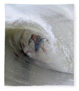 Surfing Bogue Banks 4 Fleece Blanket