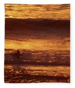 Surfing California Fleece Blanket