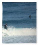 Surfing Carmel Beach Two Fleece Blanket