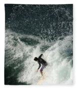 Surfing Hawaii 4 Fleece Blanket