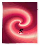 Surfing In The Sunset Two Fleece Blanket