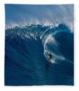Surfing Jaws Fleece Blanket