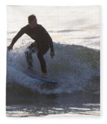 Surfing Narragansett Fleece Blanket