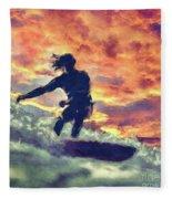 Surfing Fleece Blanket