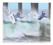 Surfing Sequence Fleece Blanket