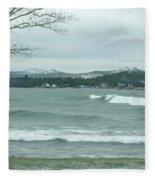 Surfing Waves Fleece Blanket